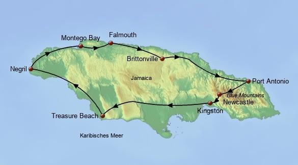 Jamaika Reise Individuell
