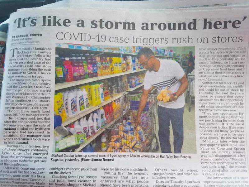 Corona Virus Jamaika