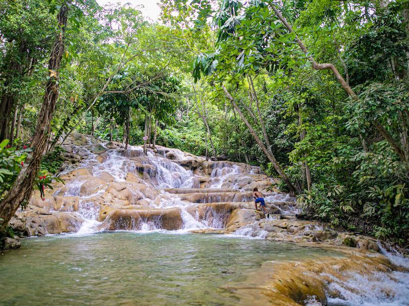 Jamaika Wandern zu den Wasserfällen