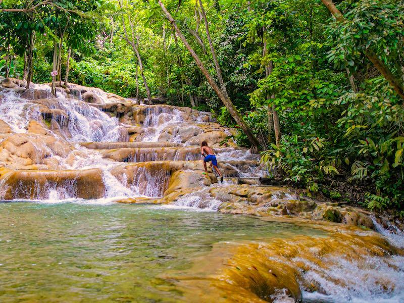 Jamaika Cool Runnings Mietwagen Dunns River Falls